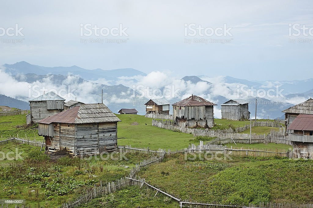 Mountain village royalty-free stock photo