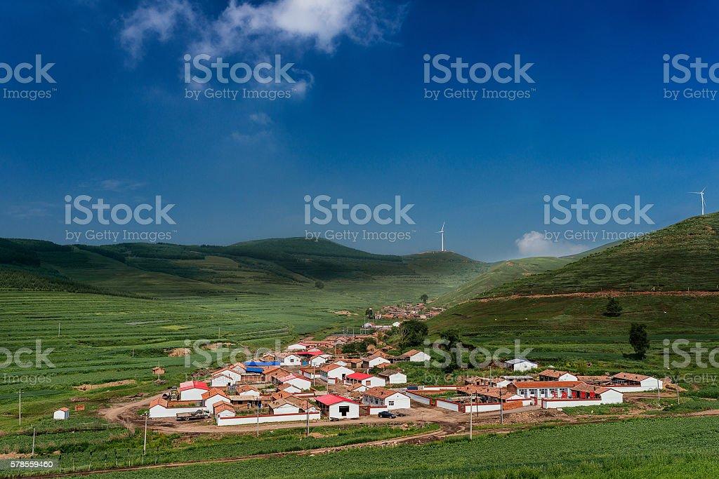 Mountain Village stock photo