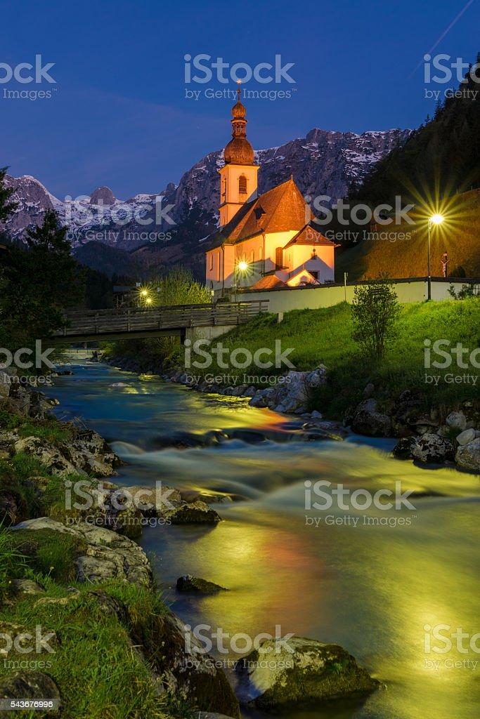 Mountain Village Ramsau stock photo