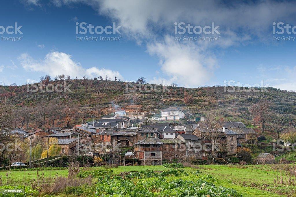 Mountain village rionor em Portugal foto royalty-free