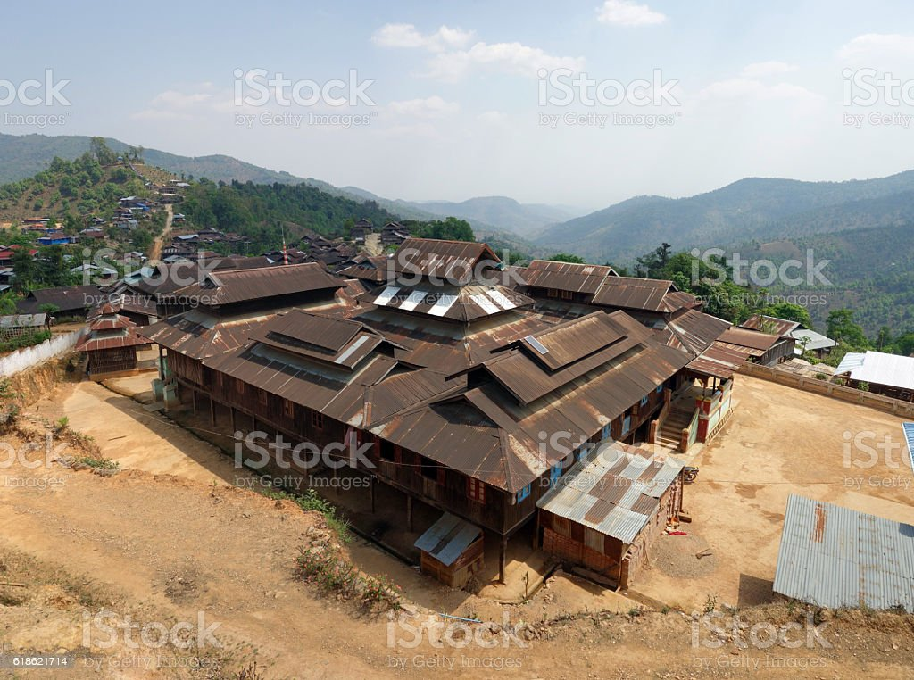 Mountain village, Shan state, Myanmar stock photo