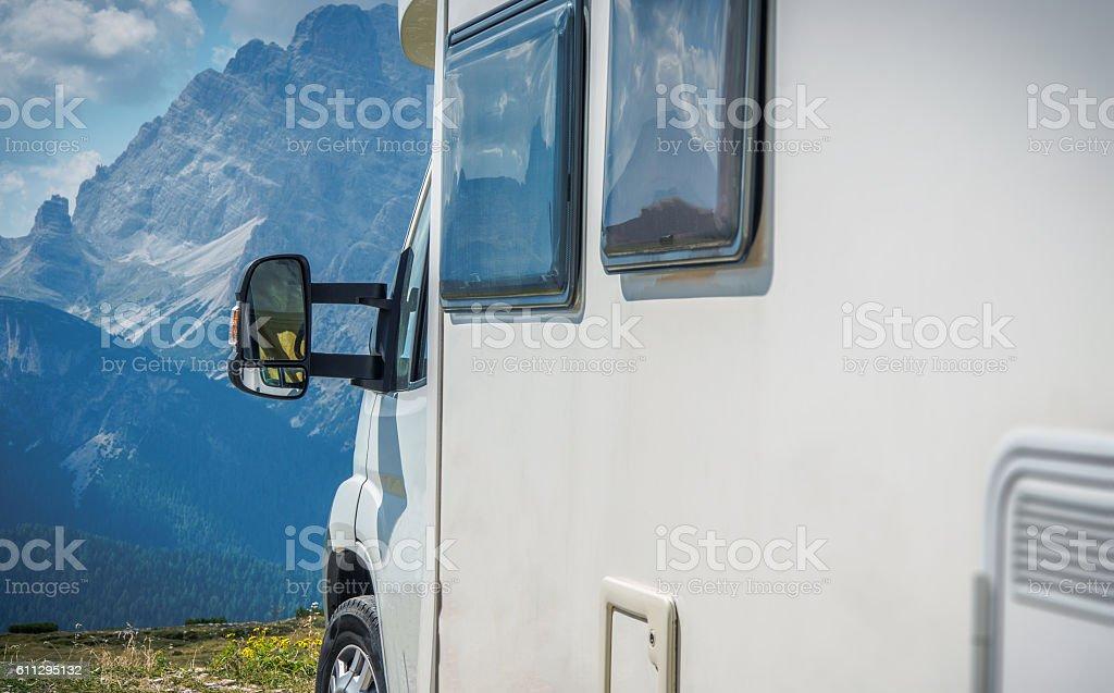 Mountain Vista Camping stock photo