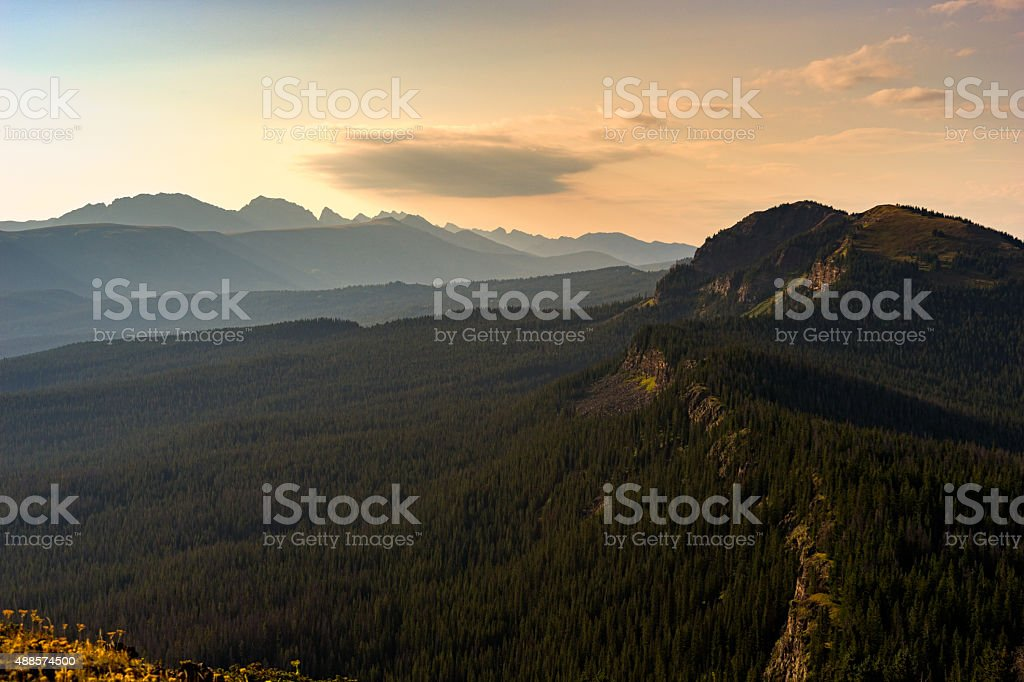 Mountain Vista Gore Range View stock photo