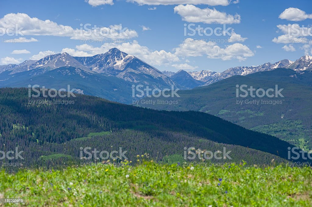 Mountain Vista View Mount of the Holy Cross Colorado royalty-free stock photo