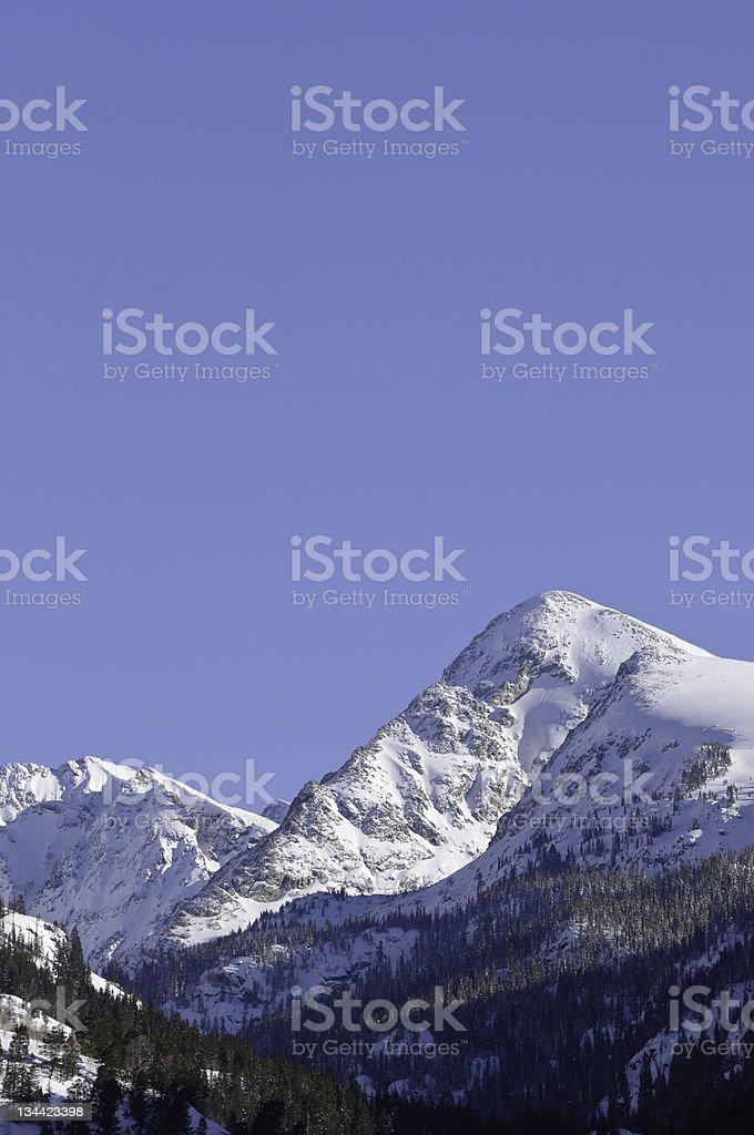 Mountain Vista Winter Summit View royalty-free stock photo