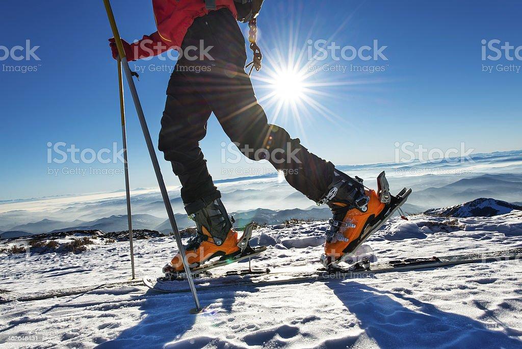 Mountain walking stock photo