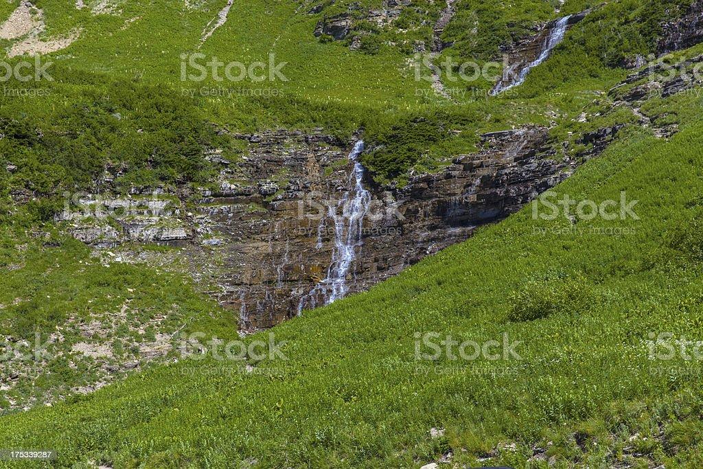 Mountain Waterfall royalty-free stock photo