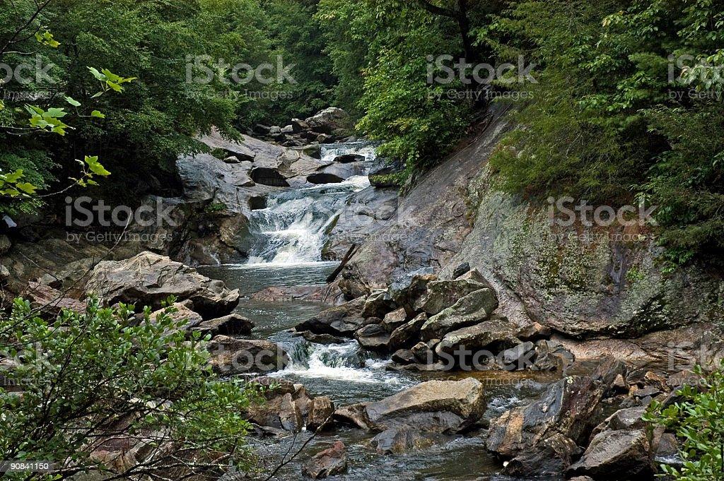 Mountain Waterfalls in North Carolina royalty-free stock photo