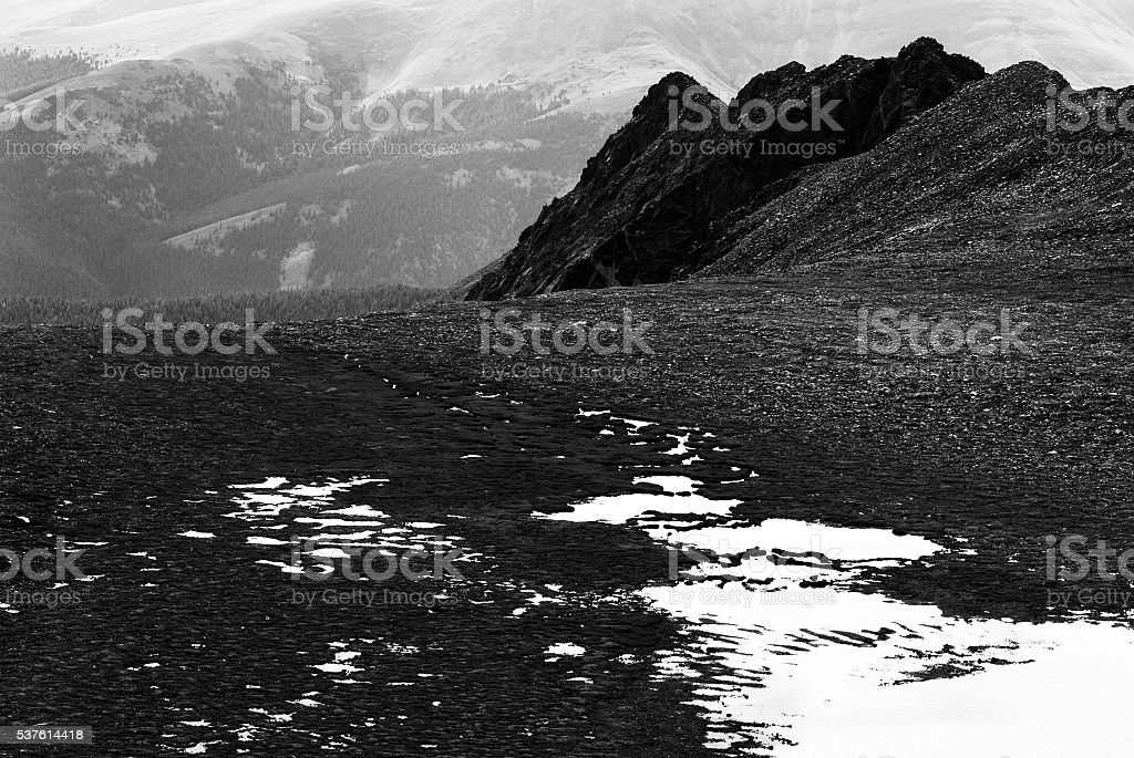 Mountain Wetlands Headwaters Creek stock photo
