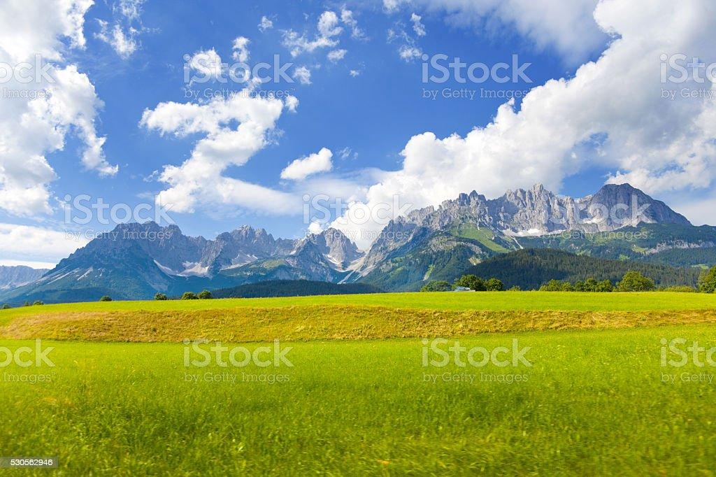 Mountain Wilder kaiser stock photo