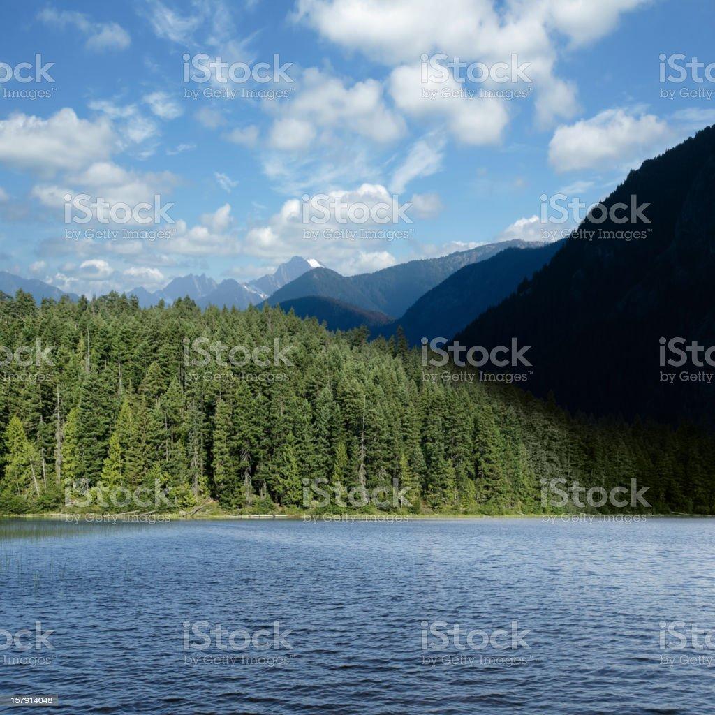 XXL mountain wilderness lake royalty-free stock photo