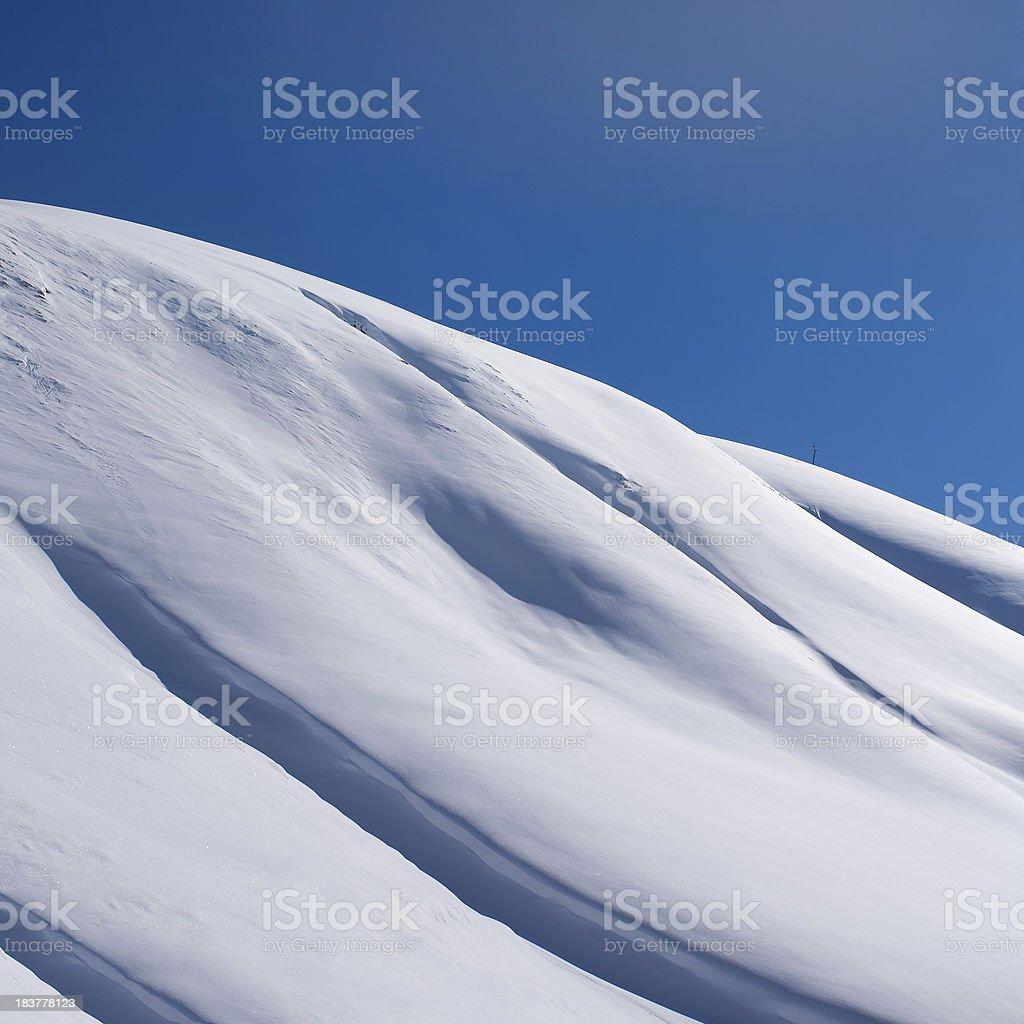 Mountain winter landscape royalty-free stock photo