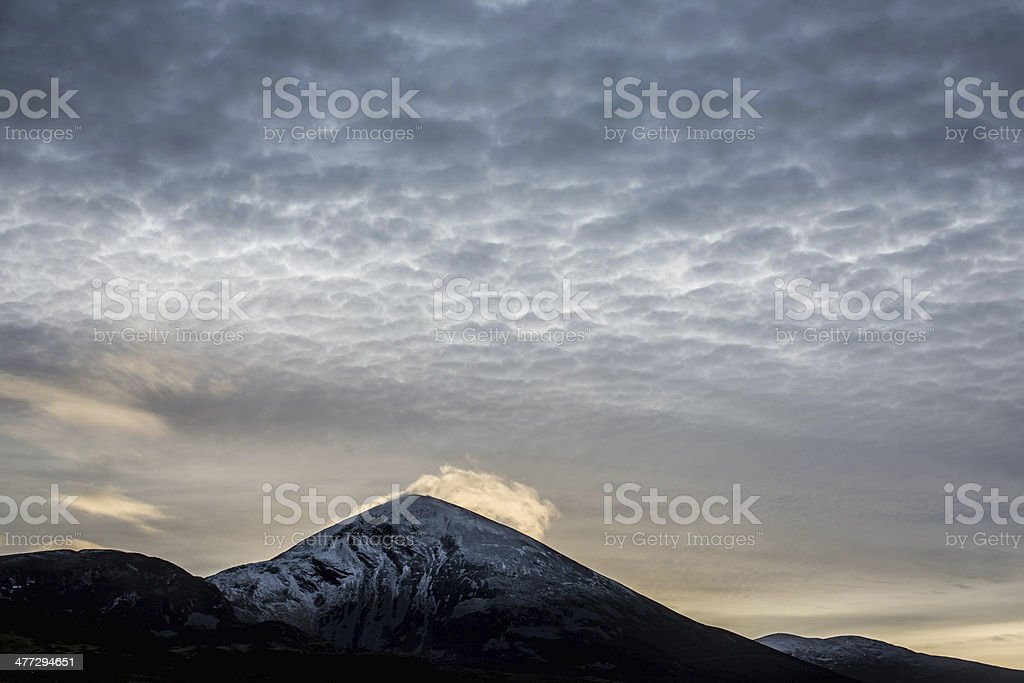 Mountain with cloud royalty-free stock photo