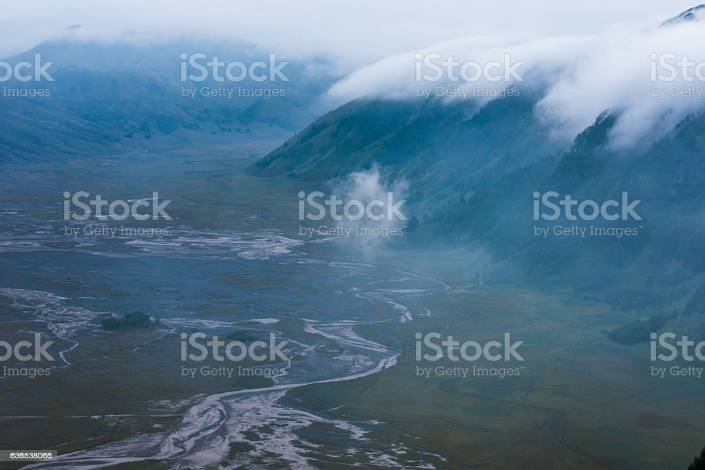 mountain with cloud stock photo
