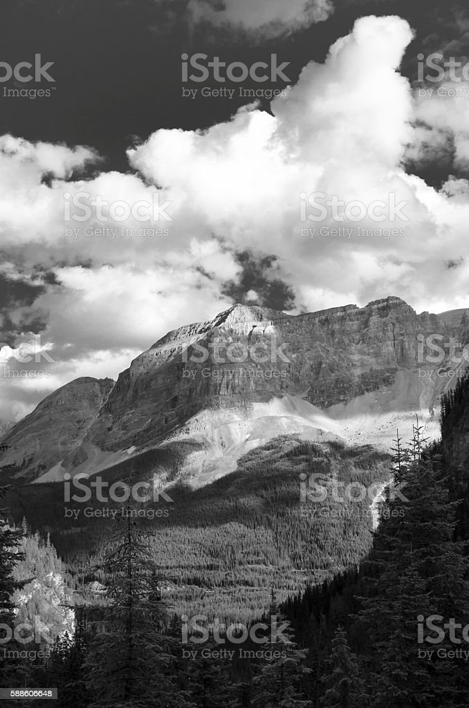 Mountain with Clouds stock photo