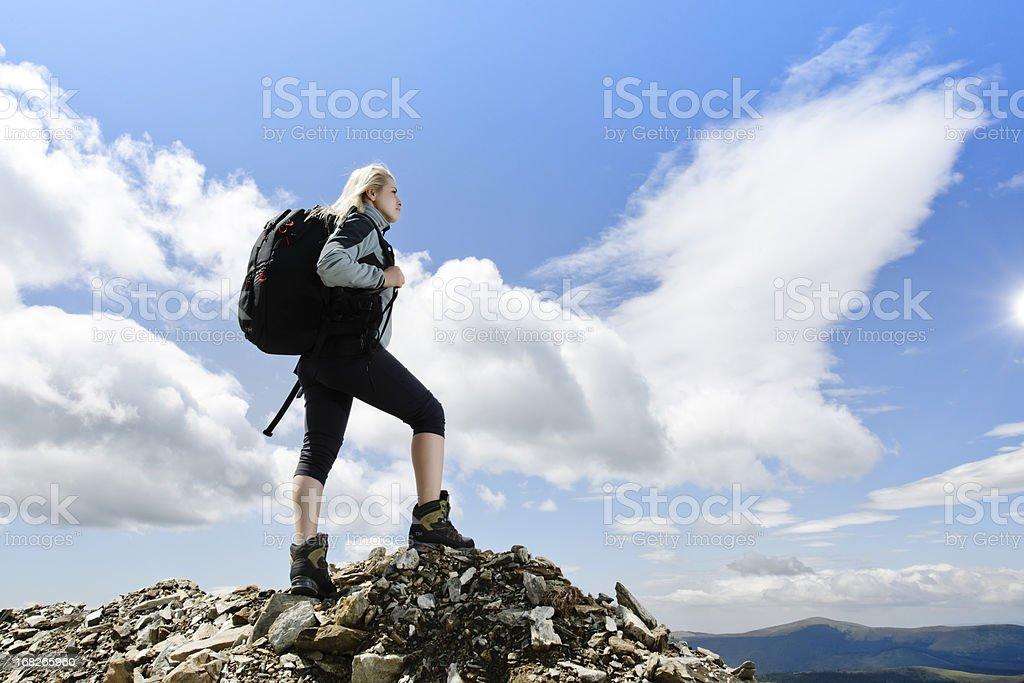 mountain woman royalty-free stock photo