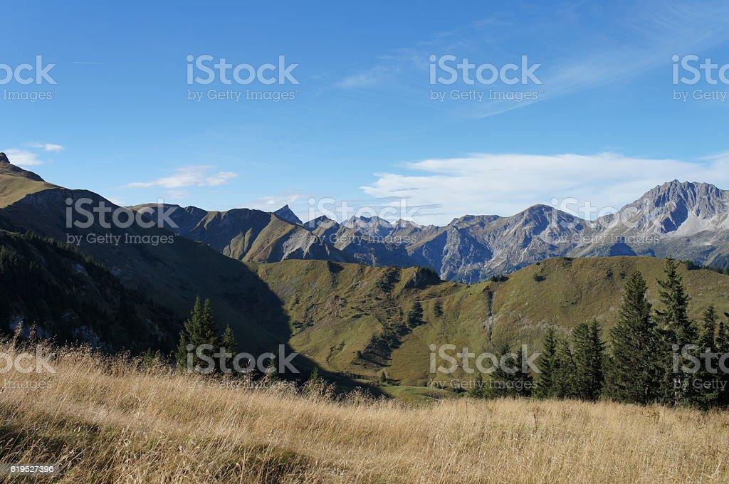 Mountain world in autumn stock photo
