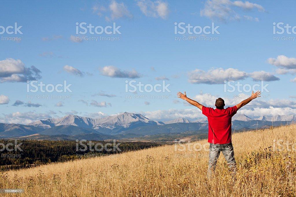Mountain Worship stock photo