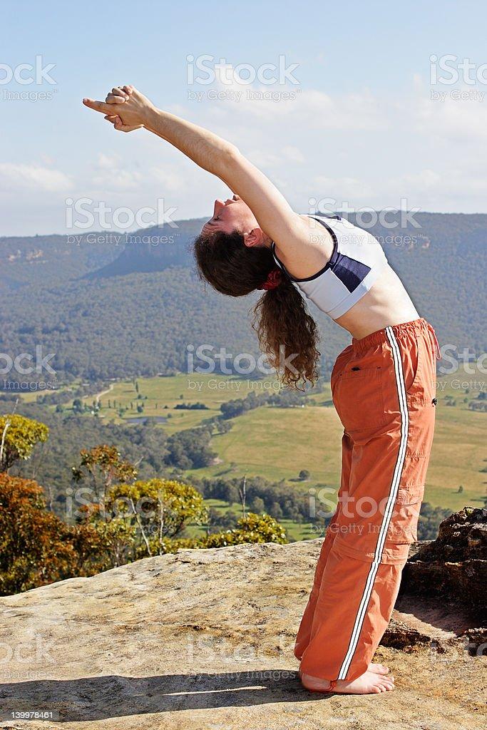 Mountain yoga 2 stock photo