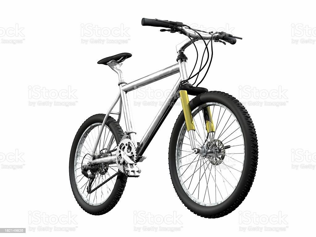 mountainbike front stock photo
