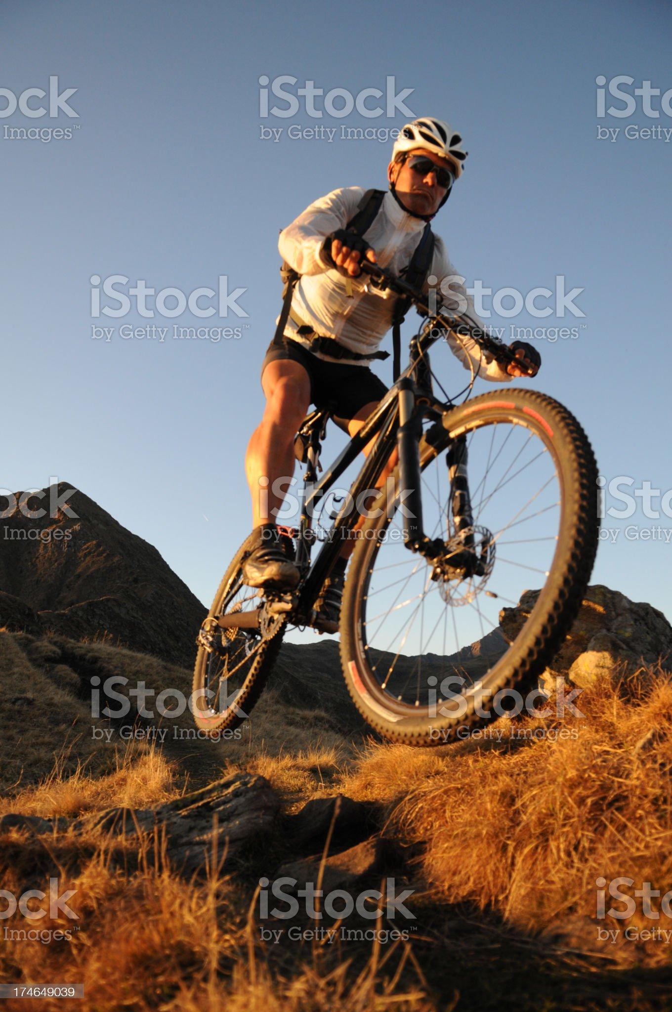 Mountainbike racer royalty-free stock photo