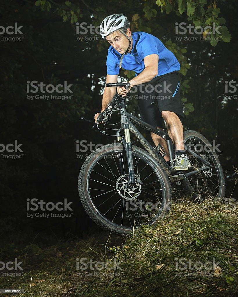 mountainbiker royalty-free stock photo