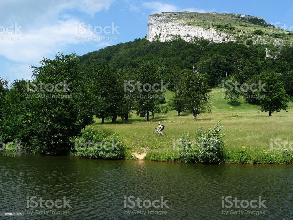 Mountainbiking in Serbia, Stol royalty-free stock photo