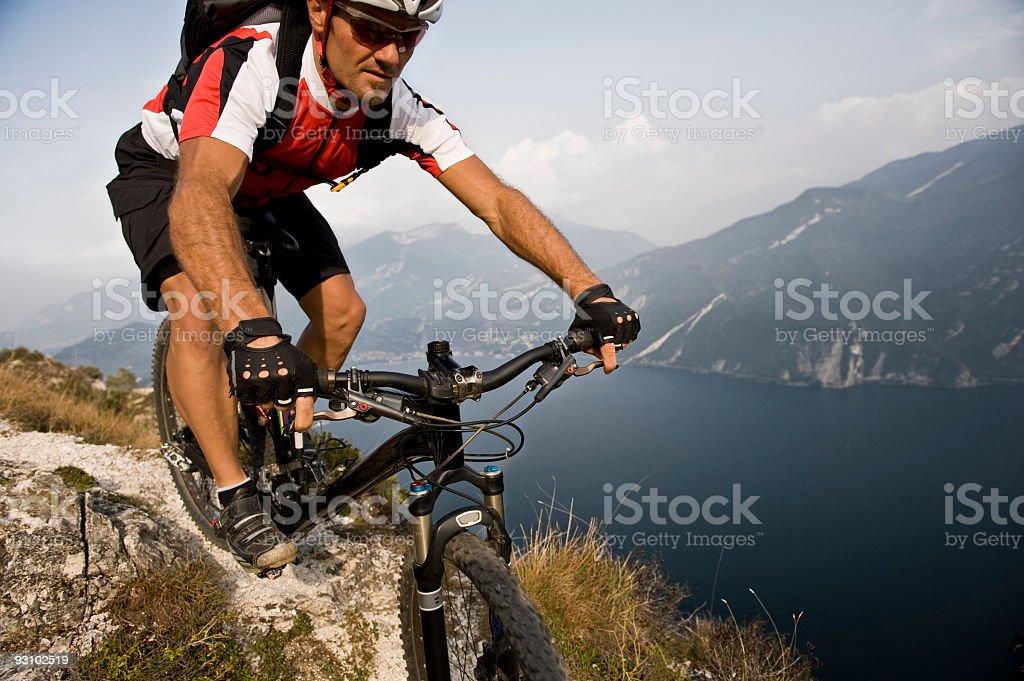 Mountainbiking stock photo