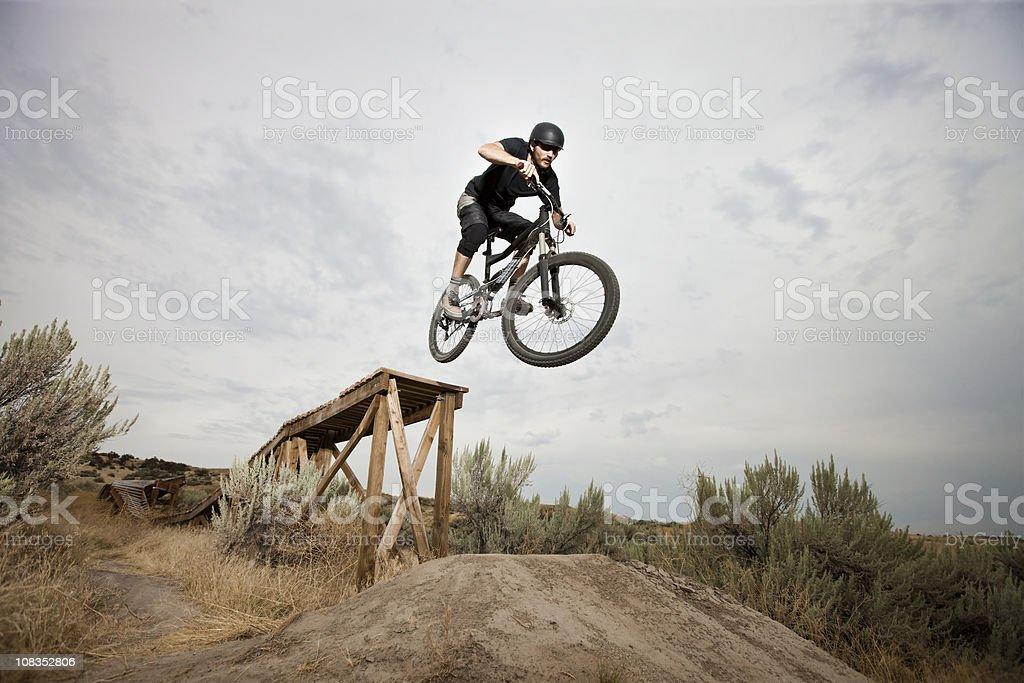 Mountainbiking Terrain Park stock photo