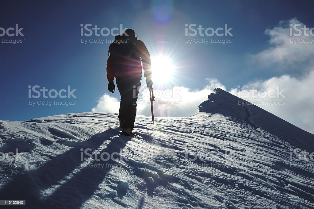Mountaineer stock photo