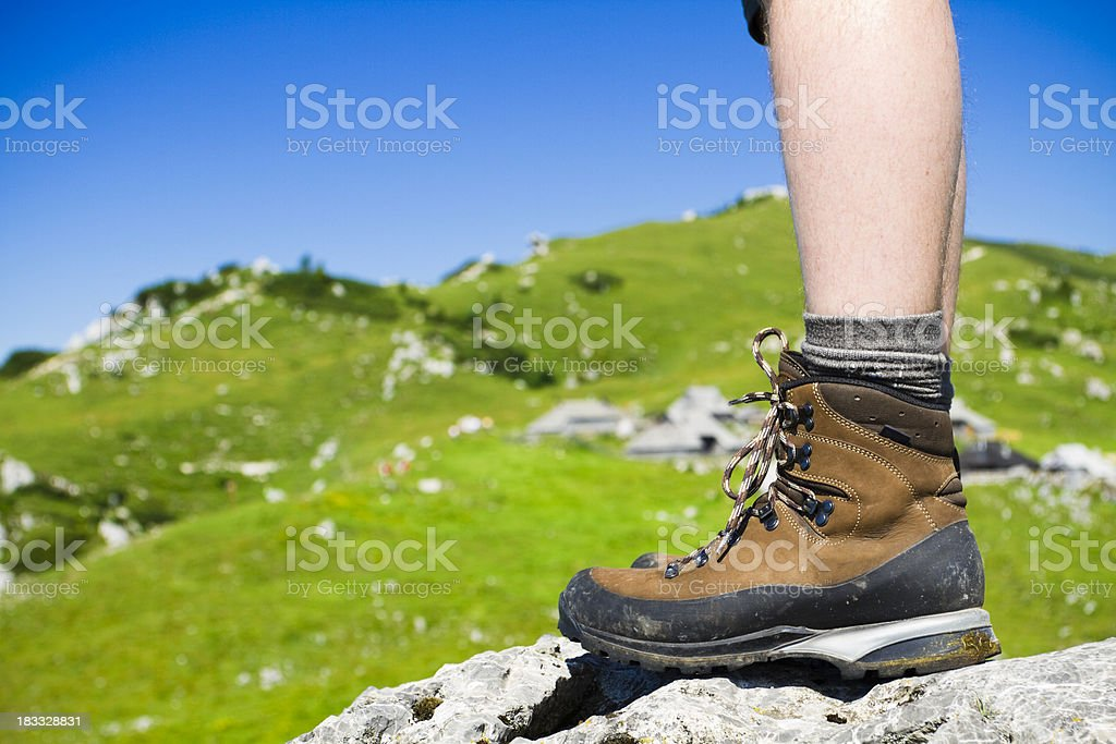 mountaineering boots royalty-free stock photo