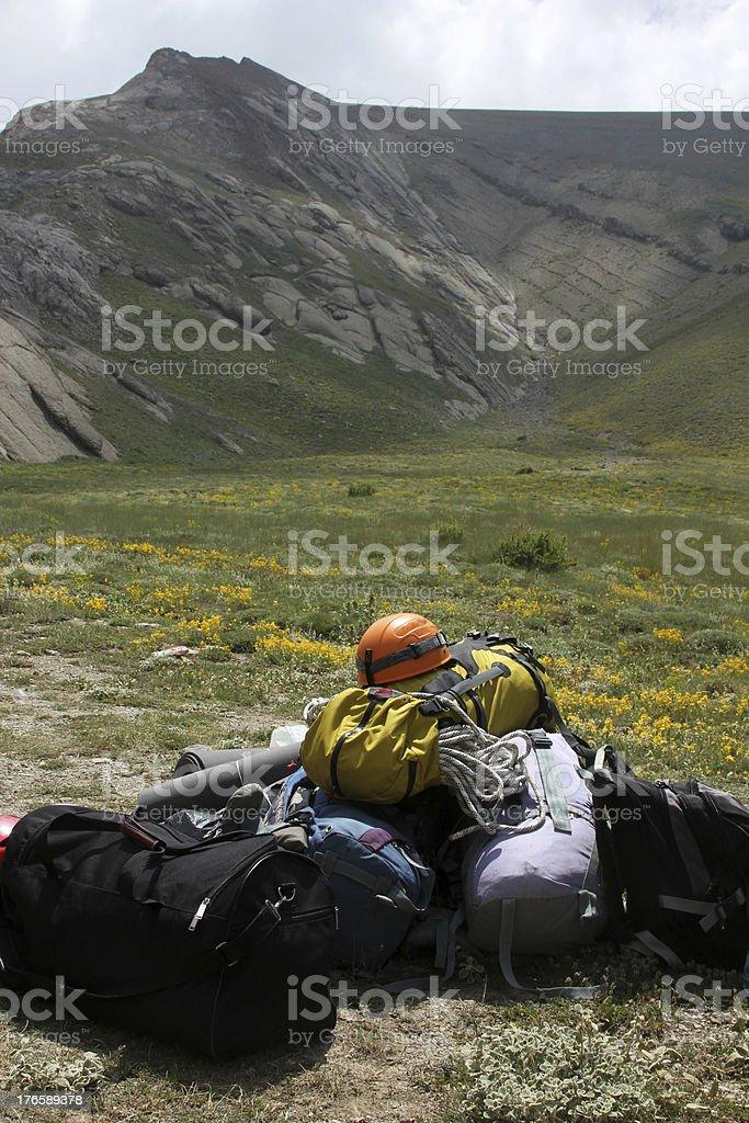 Mountaineering equipment royalty-free stock photo