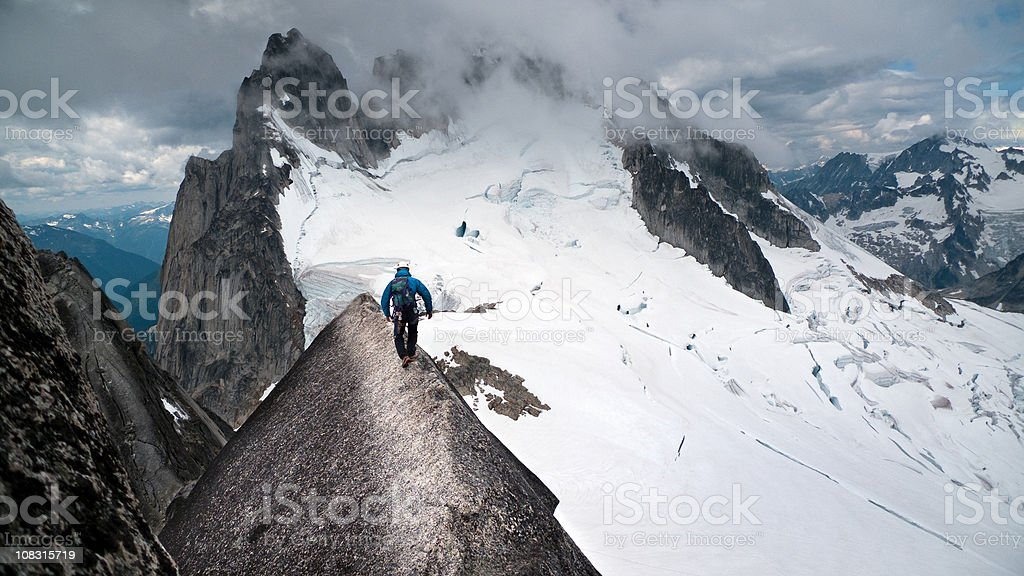 Mountaineering in Canada stock photo