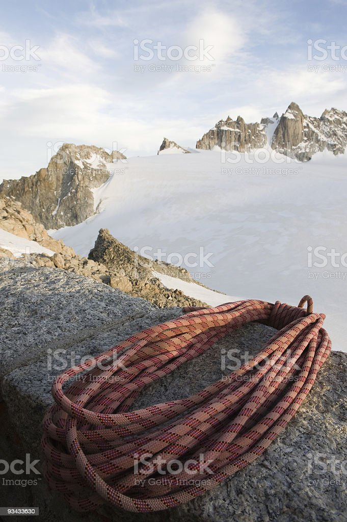 Mountaineering rope royalty-free stock photo