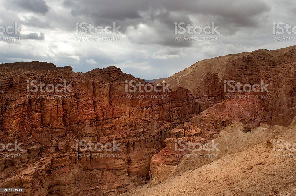 mountainous desert of Arava stock photo