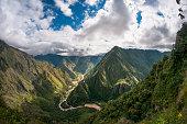 Mountainous Jungle Landscape Near Machu Picchu In Peru