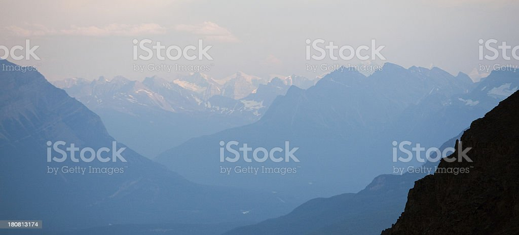 mountainous landscape in jasper national park royalty-free stock photo