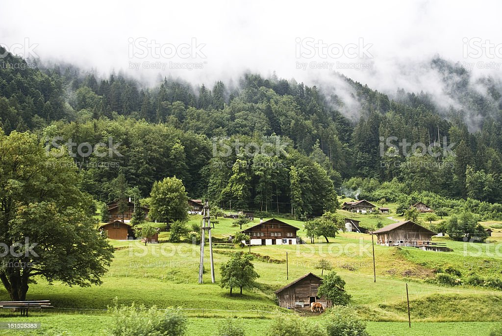Mountainous Landscape Jungfrau royalty-free stock photo