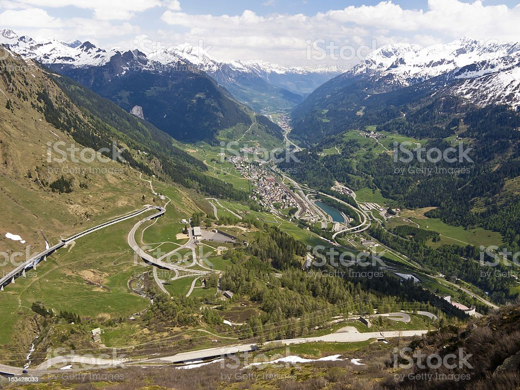 Mountainous landscape royalty-free stock photo