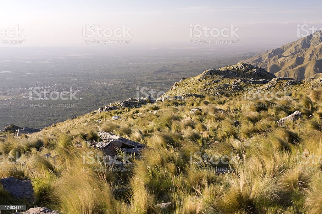 Mountainous landscape stock photo