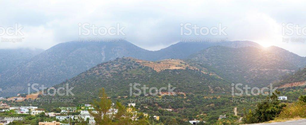 Mountainous nature Bali, Crete stock photo