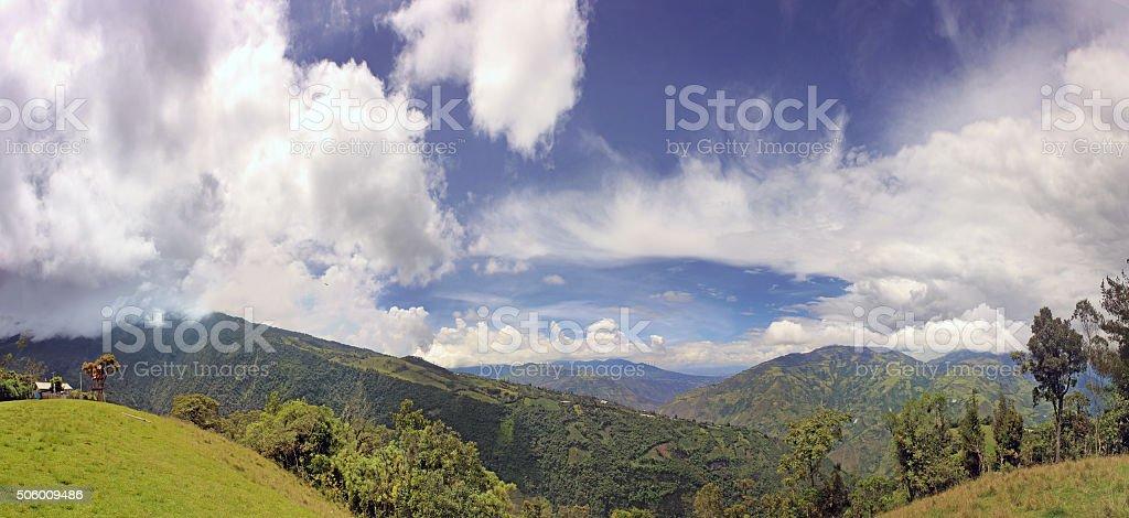 Mountains Above Baños, Ecuador stock photo