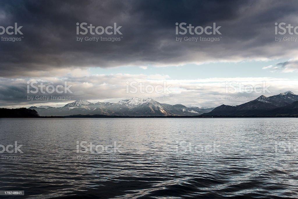 Mountains across the lake royalty-free stock photo
