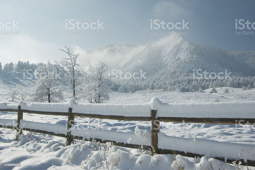 Mountains After the Snow Storm royalty-free stock photo
