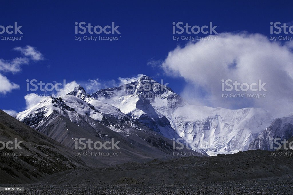 Mountain's Against Blue Sky royalty-free stock photo