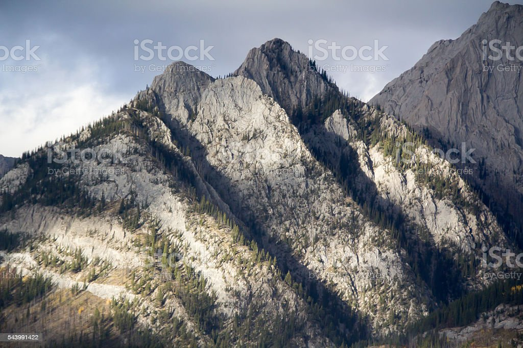 Mountains along the Bow Valley stock photo