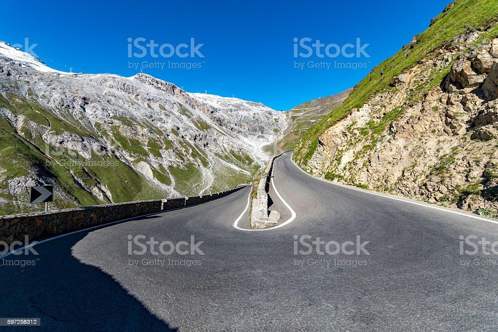 Mountains Alps Passo Stelvio stock photo
