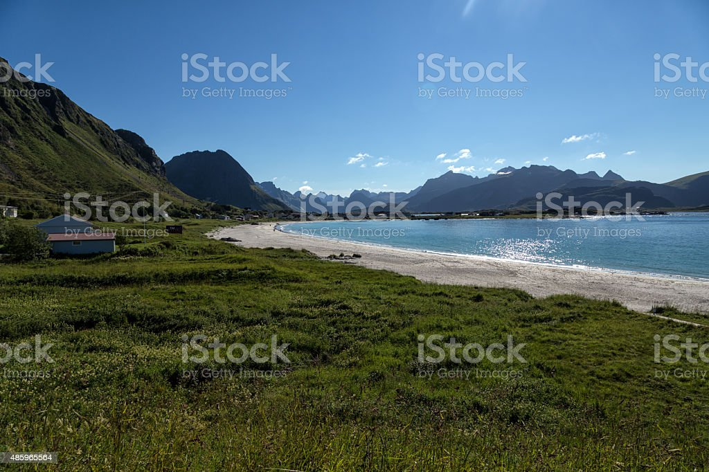 Mountains and beach royalty-free stock photo