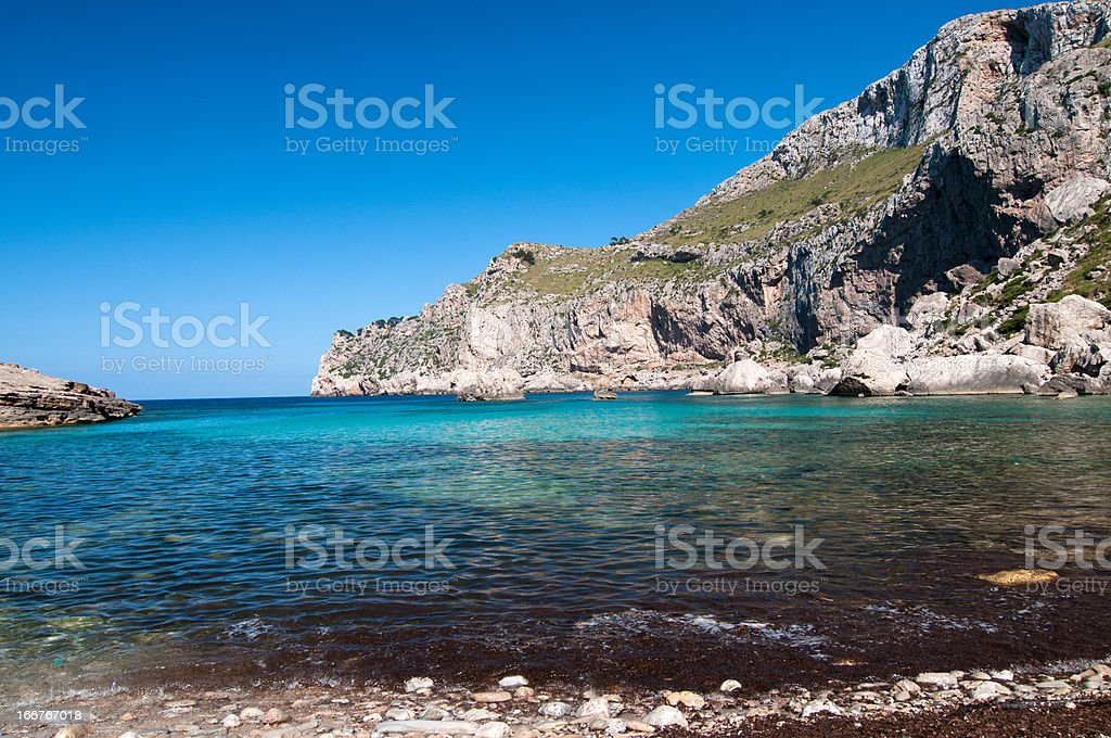 Mountains and blue sea royalty-free stock photo