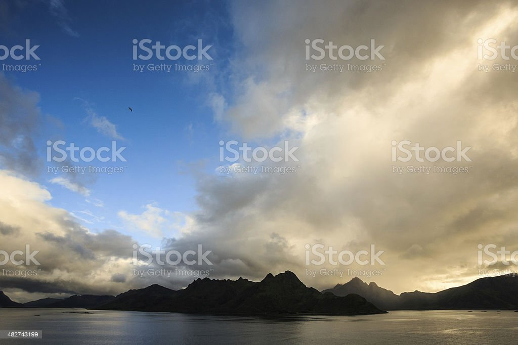 Mountains and Fjord stock photo